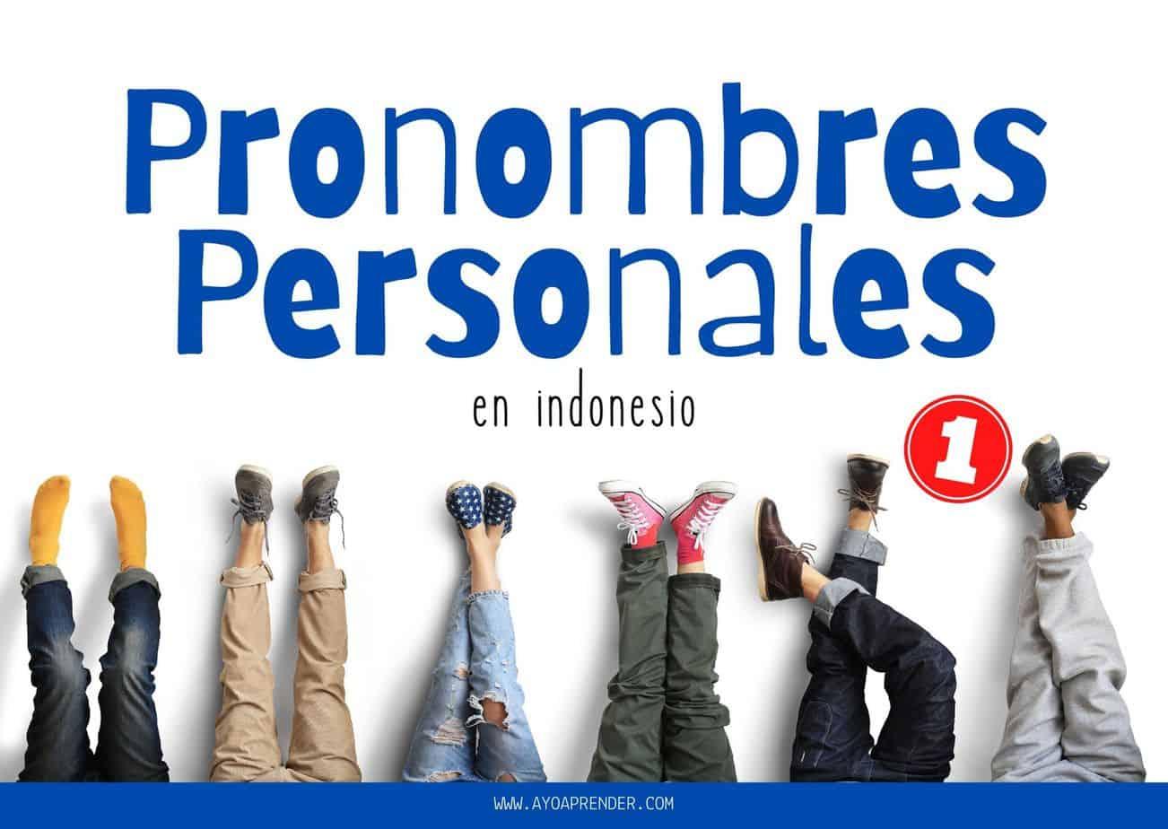 Pronombres personales en indonesio